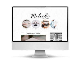 Layout for Blogger | Theme: Melinda | Graphic and Web Design