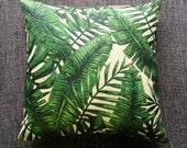 Tropical Palm Leaf Green Cushion Cover Pillow Cover Decorative Cushion Throw Pillow 45cm