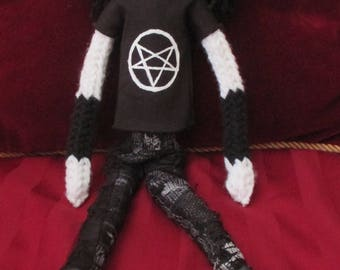 Totally brutals black metal doll