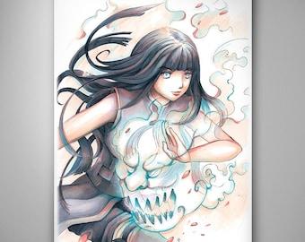 Naruto - Hinata// Art Print// Illustration