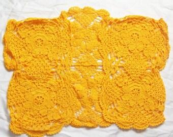 Crochet Yellow Bolero size M