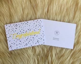 Speckle Congratulations Card