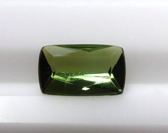 1.59 cts Loose Green Tourmaline, Loose Tourmaline, Loose Gemstone, Green Gemstone, Cushion Cut Gemstone,Green Tourmaline,Tourmaline Gemstone