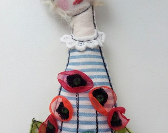 Brooch doll seawoman