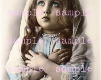 SALE no6330 Victorian Angel Little Girl > instant Digital Download > Vintage Christmas > Beautiful Girl > Angel > Printable Photograph