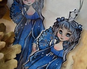 Bookmarks  -  Laminated - Charm - Paper Goods - Handmade - Paper Craft - The North Star - Winter - Cold - Anime Style - Christmas - Princess