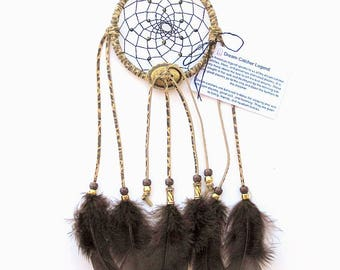 Leopard Print Dream Catcher, Turkey Flat Feathers