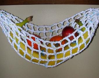 banana hammock fruit hanger holder   white with turquoise green fruit hammock   etsy  rh   etsy