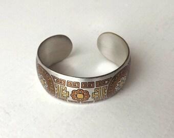 Reed & Barton Damascene Cuff Bracelet