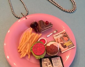 Eating at the Diner Necklace