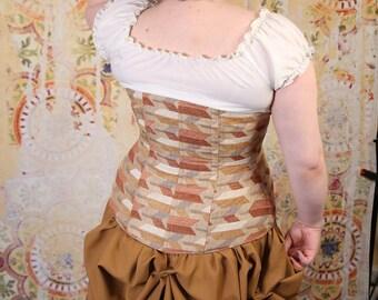Matte Gold Knee-length Bustle Skirt with Tassel Trim