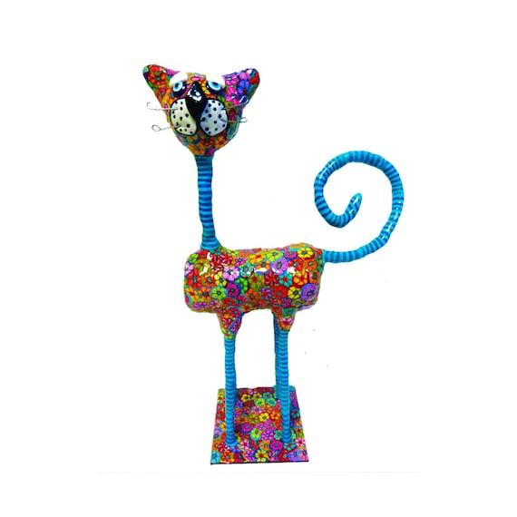 Cat Sculpture Cat Home Decor Cat Home Design Cat Decor By