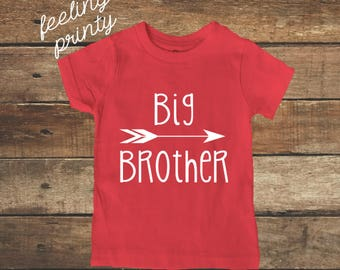 Big Brother Shirt Big Boys Shirt New Brother shirt Red