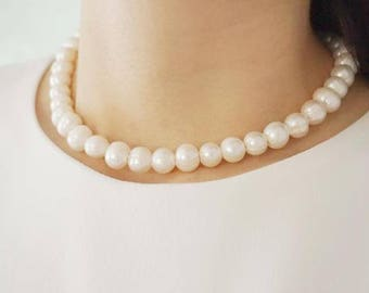 Bridesmaid Gift Bridesmaid Jewelry Sets Of Two Pearl Necklace Bridal Jewelry Pearl Jewelry Bridal Necklace Wedding Necklace Wedding Jewelry