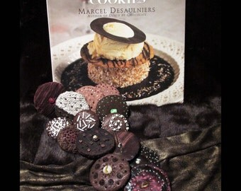 DEATH By CHOCOLATE COOKIES: 75 Easy-to-Follow Full-Color Cooky Recipes ©1997 Marcel Desaulniers | Oversize Baking Cookbook Biscotti Recipes