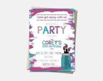 Art Party Invitations - Art Birthday Party Invitations - Art Birthday Invitations - Art Invitations
