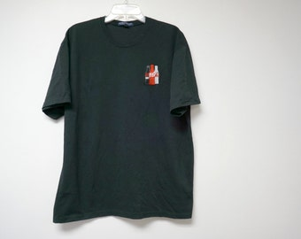 Coca Cola . embroidered black shirt . large