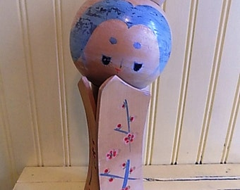 Vintage Large Kokeshi Doll Signed Made in Japan