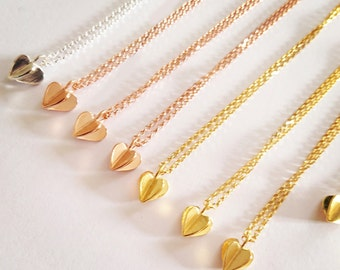 Sterling Silver or Gold plated Sweet Heart Pendant & Chain