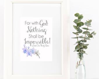 Nothing Shall Be Impossible Printable