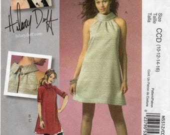 McCall's 5512 Misses Lined Dress And Leggings Uncut Pattern Size 10-12-14-16 Copyright 2007