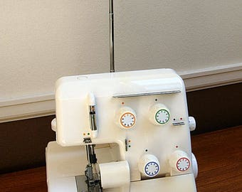 "Great Vintage Bernina Bernettte 134D Sewing Machine Serger With ""Hidden"" Drawer + Accessories!"
