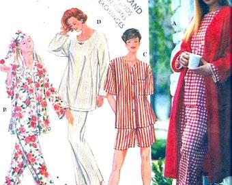 Robe Pajamas Nightcap Sewing pattern Simplicity 9250 womens sleepwear sewing pattern plus size Lg XL UNCUT