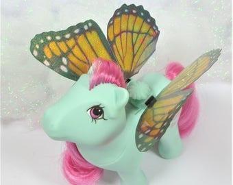 Orange Glitter Viceroy Butterfly Wings