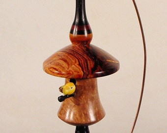 Miniature Bird House Turned From Exotic Woods No. 136 by Bryan Nelson