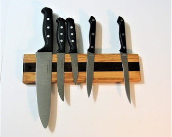 Knife Rack Holder Made Of Two Woods