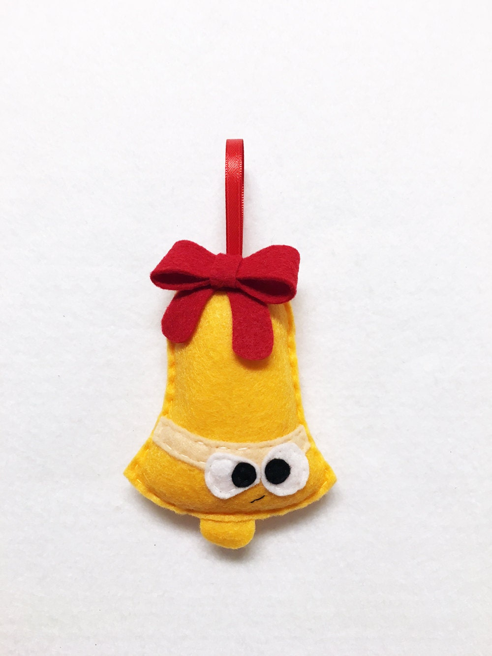 Grumpy christmas ornament - Limited Edition Bell Ornament Christmas Ornament Felt Holiday Ornament Jeff The Grumpy Bell Secret Santa Gift Coworker Gift