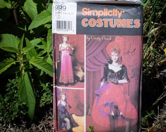 Simplicity Burlesque Can Can Showgirl Historical Costume Size 6-12 Uncut