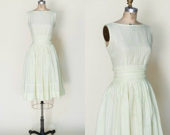 1950s Yellow Dress --- Vintage Day Dress