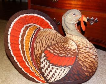 Vintage VIP Stuffed Turkey Animal, Stuffed Animal, Gobble Gobble, Turkey, Table Decor, Fireplace Decor, Mantle Decor Traditional Turkey Bird
