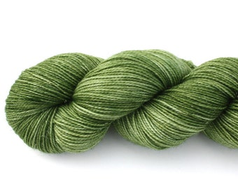 Envy--hand dyed sock weight yarn, merino, nylon and stellina, (438yds/100gr)