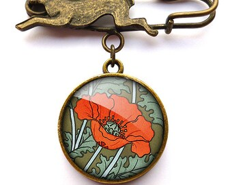 Poppy Hare Pin Brooch (AN07)