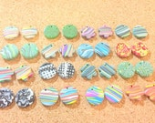 Huge Collection of Handmade Artisan Beads Polymer Clay Beads 16 Pairs or 32 Beads
