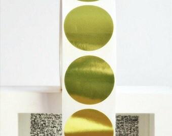 Soft Gold Foil Stickers {45mm} | Gold Foil Seals | Envelope Seals| Thank You Seals | Engagement Wedding Seals | Round Gold Stickers