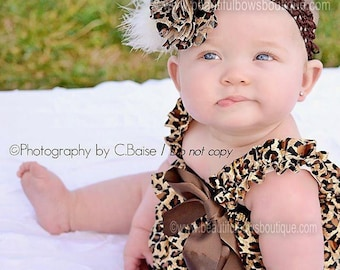 Newborn photo outfit,Cheetah Baby Romper, Leopard Outfit, Cheetah Baby Outfit, Baby Girl Newborn Photos,Cake Smash Outfit,Ruffle Baby Romper