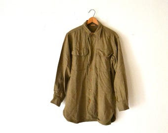 WWII Military Wool Shirt