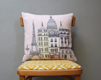 Paris Cushion - Paris Cityscape Design - Paris Pillow - Paris Wedding Gift - Engagement Gift - Eiffel Tower