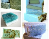 VALENTINE SALE - SOAP Gift - Refresh-Mint Soap gift set - soap gift bag - 5 soap vegan gift set