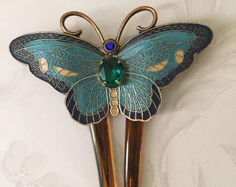 Titanic Jewelry Rose's Swarovski Butterfly Comb