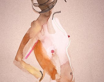 Nude painting- #1415 by Gretchen Kelly