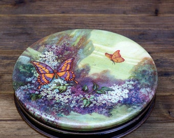 Vintage Butterfly Litho Tin