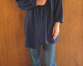 1980s NORMA KAMALI avant garde fleece cocoon wrap coat