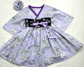 Boutique Little Girls Dresses - Easter Dress - Purple Dress - Toddler Clothes - Kimono Dress - Girls Birthday Dress -  2t to 7 years