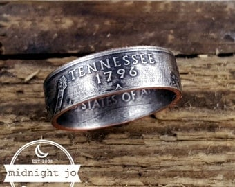 Tennessee Coin Ring Double Sided State Quarter Your Size MR0705-TSTTN
