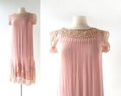 Vintage 1920s Dress | Dusty Rose | 20s Dress | Small S