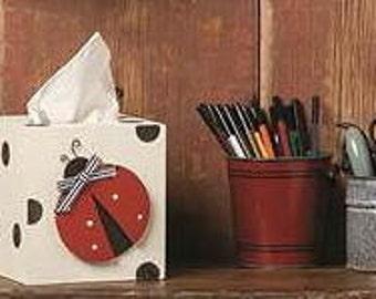 Ladybug tissue box, boutique style
